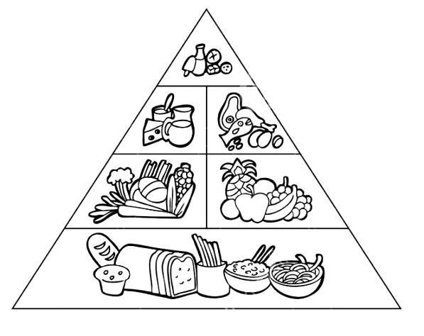 Piramide Del Buen Comer Para Colorear
