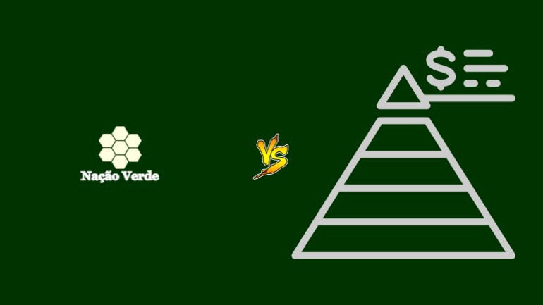 Nação Verde Pirâmide Financeira Scam Ponzi Fraude Confiavel Furada - Versus