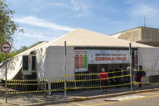 Uma foto do Centro de Triagem do Coronavírus, no bairro Piracicamirim, em Piracicaba
