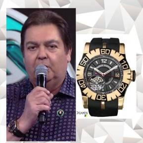 Faustão com um relógio de 122 mil dólares