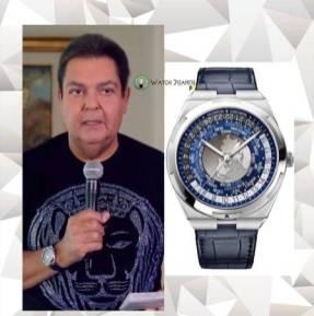 Faustão com um relógio de 34,5 mil dólares