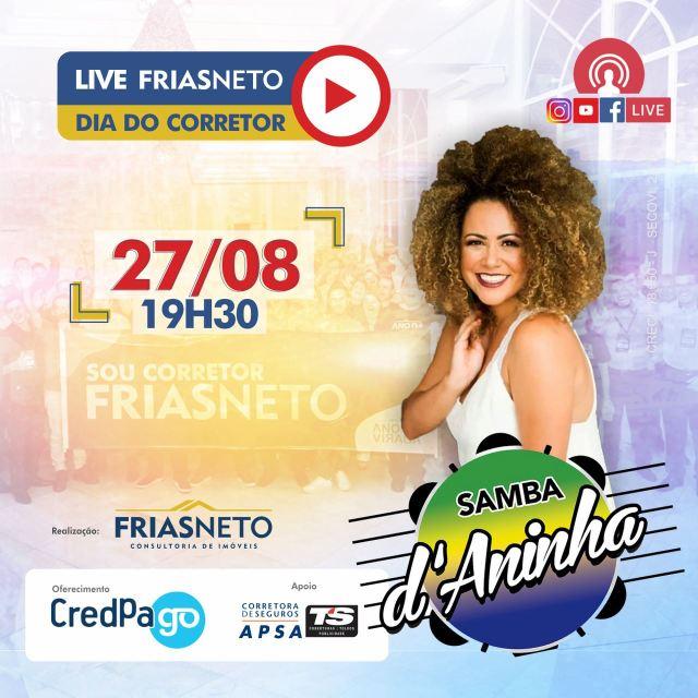 Uma foto do banner da live Frias Neto