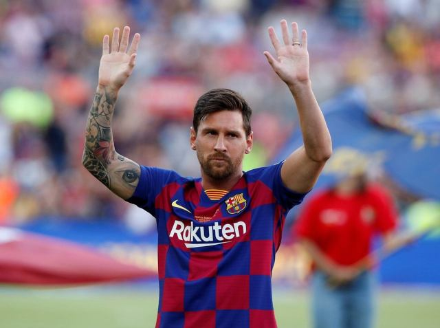 Uma foto do jogador Lionel Messi