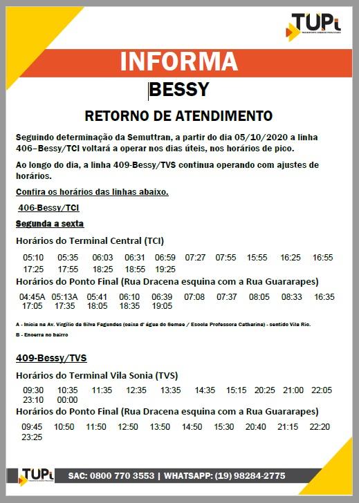 TUPi anuncia acréscimos de horários em mais linha de Piracicaba e retorno da Bessy; confira