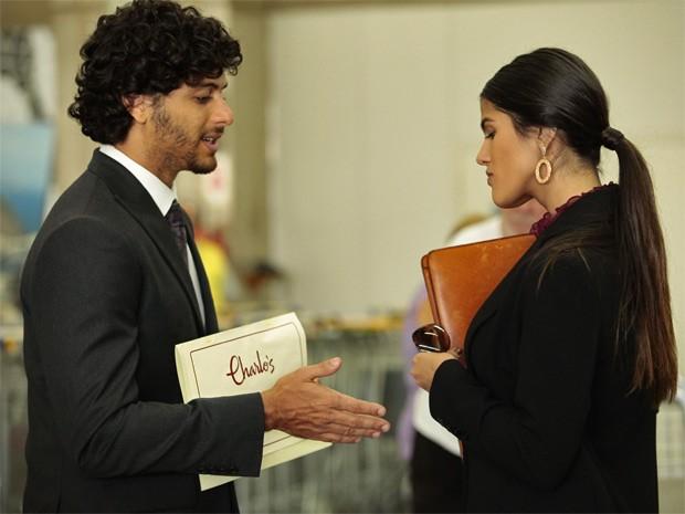 """Jesus Luz e Antônia Morais, numa cena de """"Guerra dos Sexos"""". [Foto/TV Globo]"""