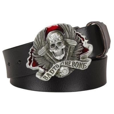 Biker skull belt buckle