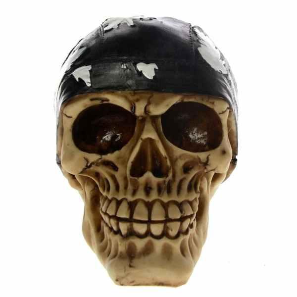 Biker skull head