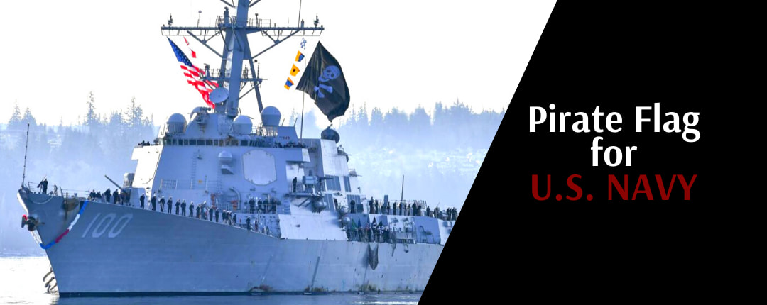 What's represent the pirate flag on USS KIDD