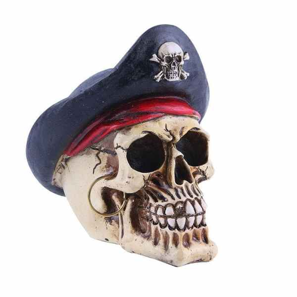 Pirate skull ornament detail
