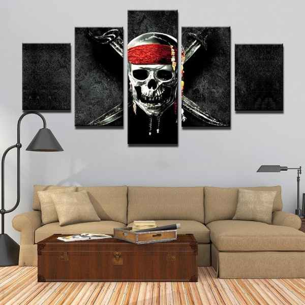 Pirates of the Caribbean painting on wall