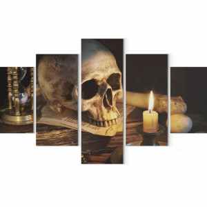 Skull candle painting
