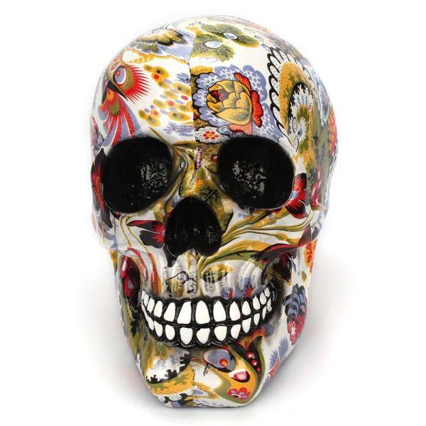 Skull flowers decor