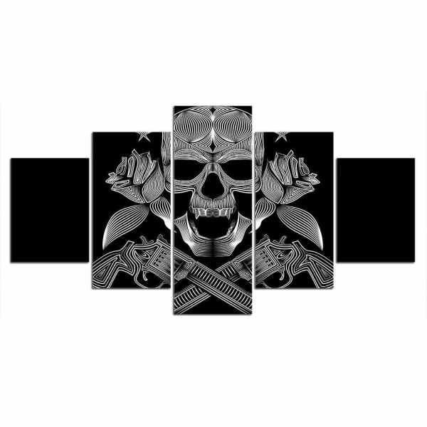 Skull gun painting