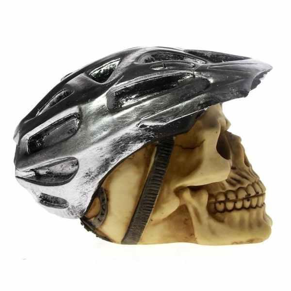 Skull head bicycle side