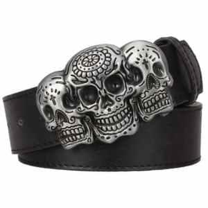 Sugar skull belt buckle