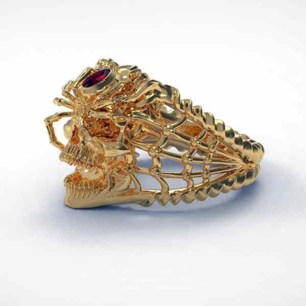 Men's Gold Spider Ring