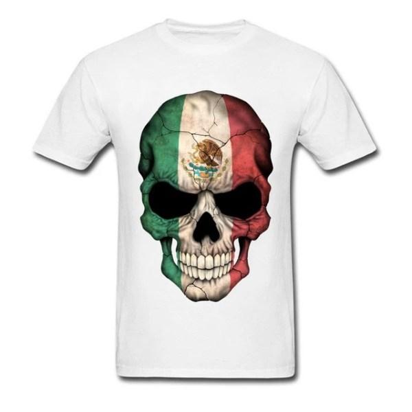 Mexican Skull T-Shirt White