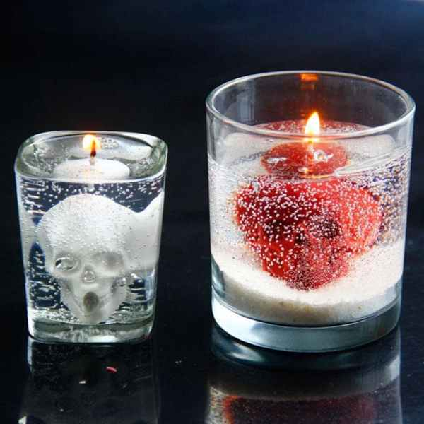 Idea of Skull Candle with Silicone Mold