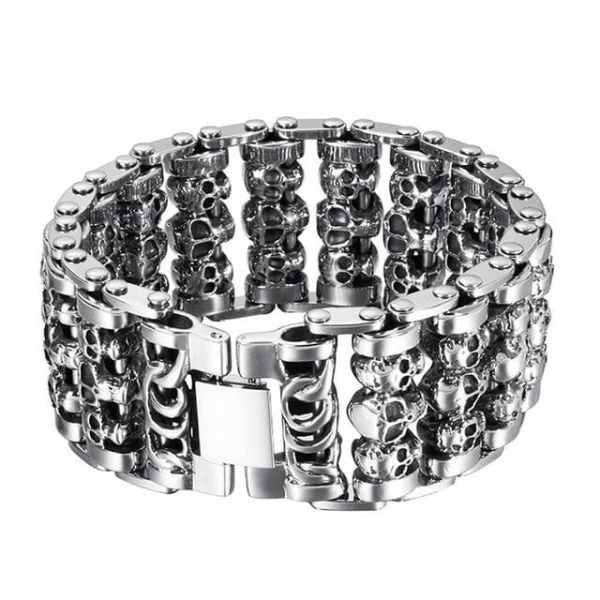 Skull biker bracelet
