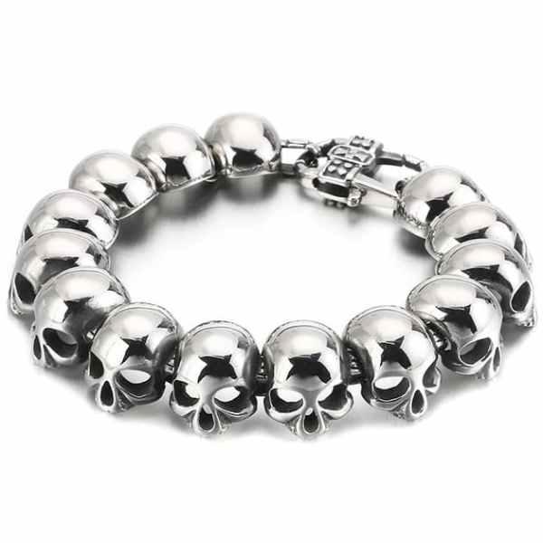 Small skull head bracelet