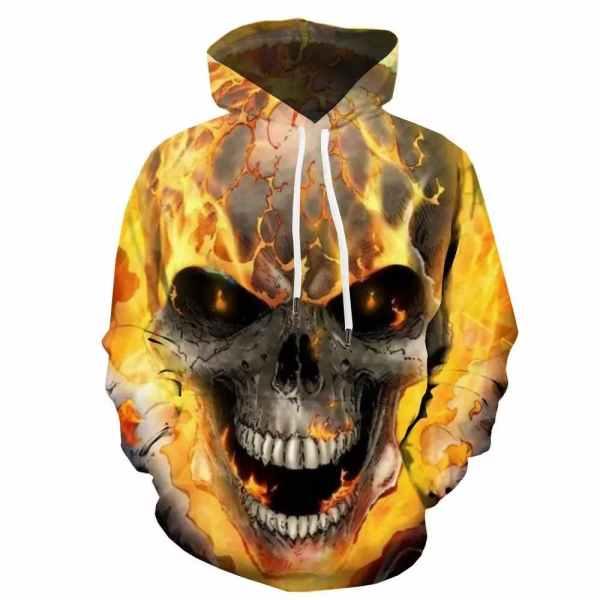 Fire Skull Hoodie