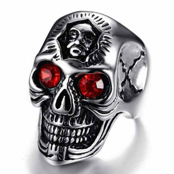 Ring with Skull and Red Eye