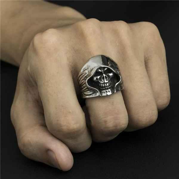 Wearing a Skull Reaper Ring