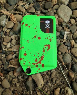 "Кардхолдер ""3.0"" ядовито зеленый ""zombie"""
