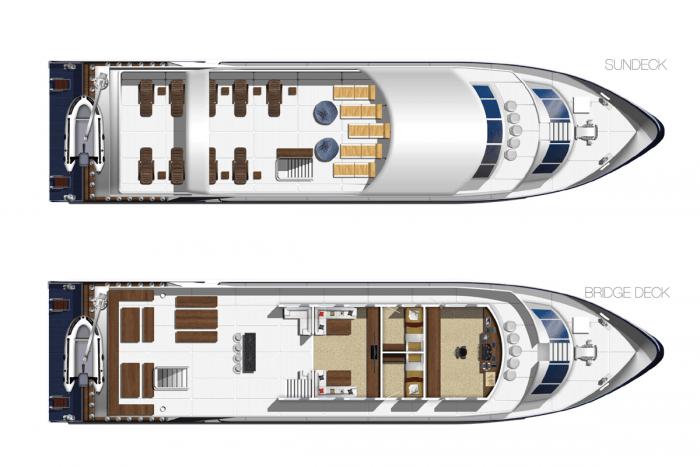 boat layout Mv Barvia