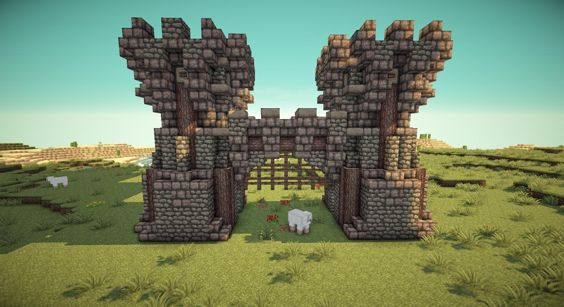 Minecraft working portcullis gates on PirateCraft Barrel Minecraft