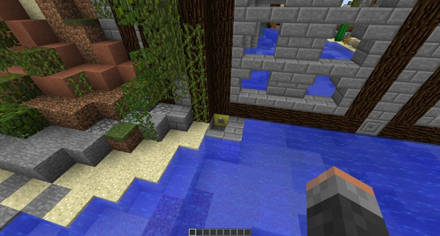 Place a Gold Block directly under the door hinge and you can control it with