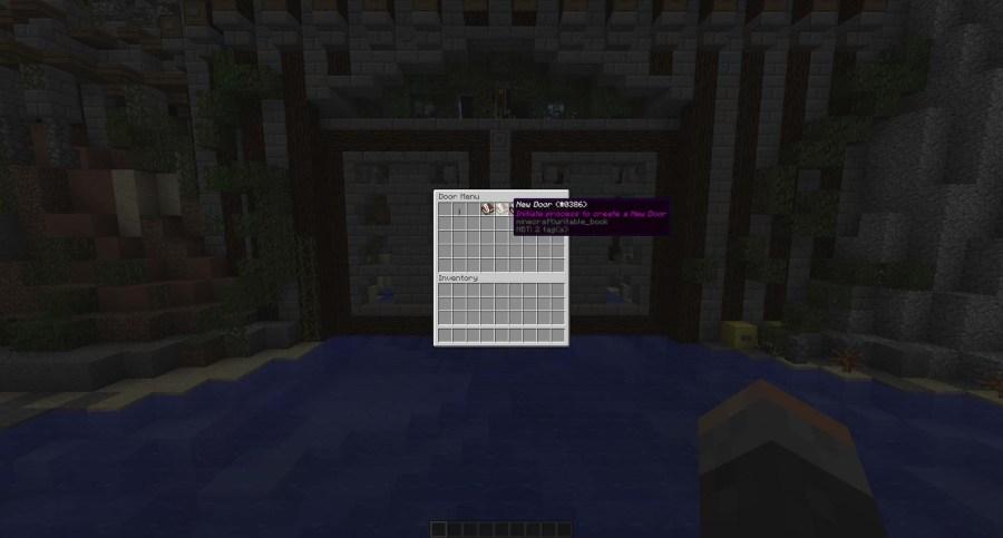 Selecting new door from the /doors GUI