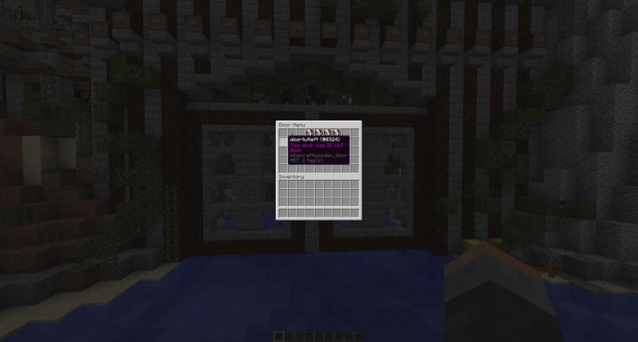 How a door is shown in the GUI for /doors