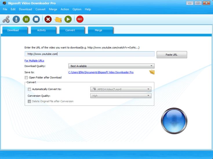 Bigasoft Video Downloader Pro Crack Download