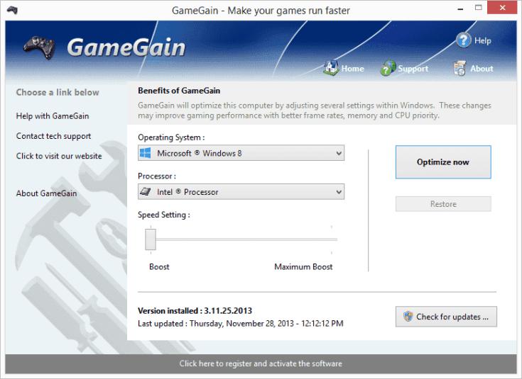 PGWare GameGain Serial Key
