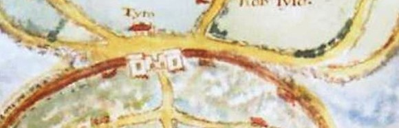 1636 Poole map incl copyright Towngate in close up