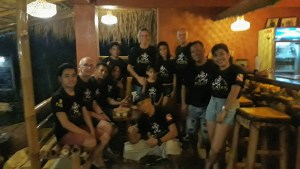 a team of people at Pirates Diving Resort Coron