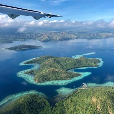 Approaching Coron by Air
