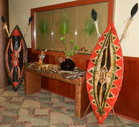 African props for rent for a safari theme party or event