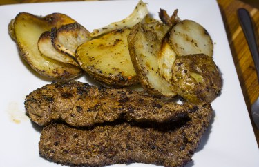 Skirt steak and roasted potatoes