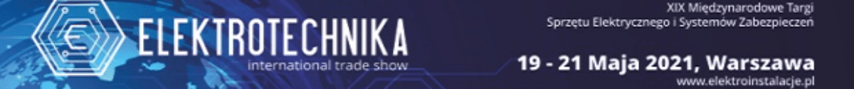 Banner ELEKTROTECHNIKA 2021 1200×125 yyyy pikseli