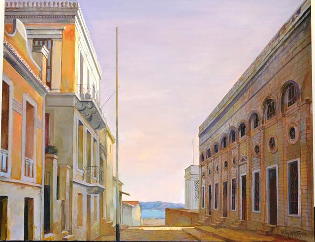 Η αποθήκη της οδού Ευπλοίας με ένα μικρό τμήμα του Αγίου Νικολάου να διακρίνεται στο βάθος