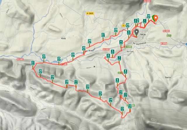 Mapa Torre del Moro y vuelta por la Botiguera