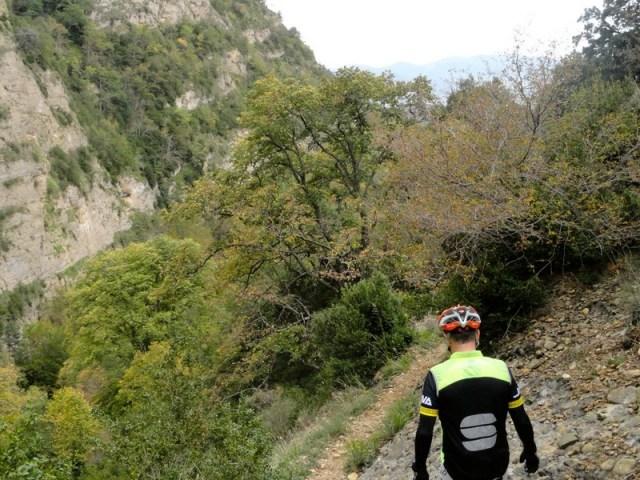 Imagen otoñal, en la zona donde dejamos las bicis