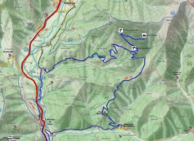 Mapa de detalle de la salida