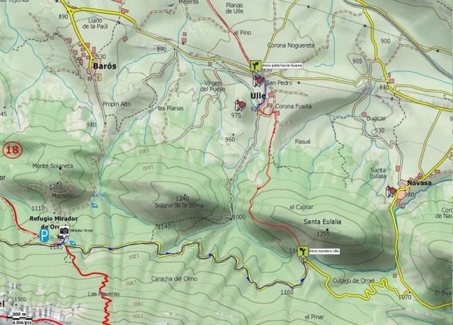 Mapa detalle 02: Senda de Ulle