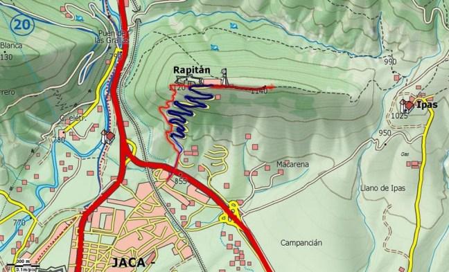 Mapa DH Rapitán