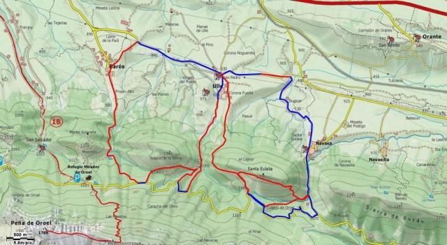 Mapa tetralogia Baros, Ulle, Navasa