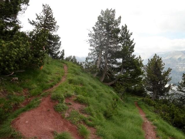 """Curva de 180º, con la tierra """"roya"""" tan característica de este valle"""