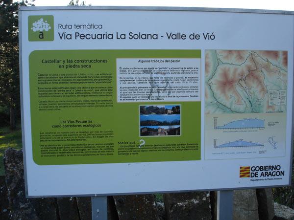 cartel indicador de la via pecuaria